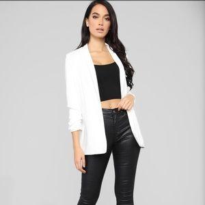 Fashion Nova White Celine Blazer